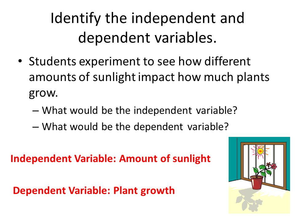 Identify the independent and dependent variables.