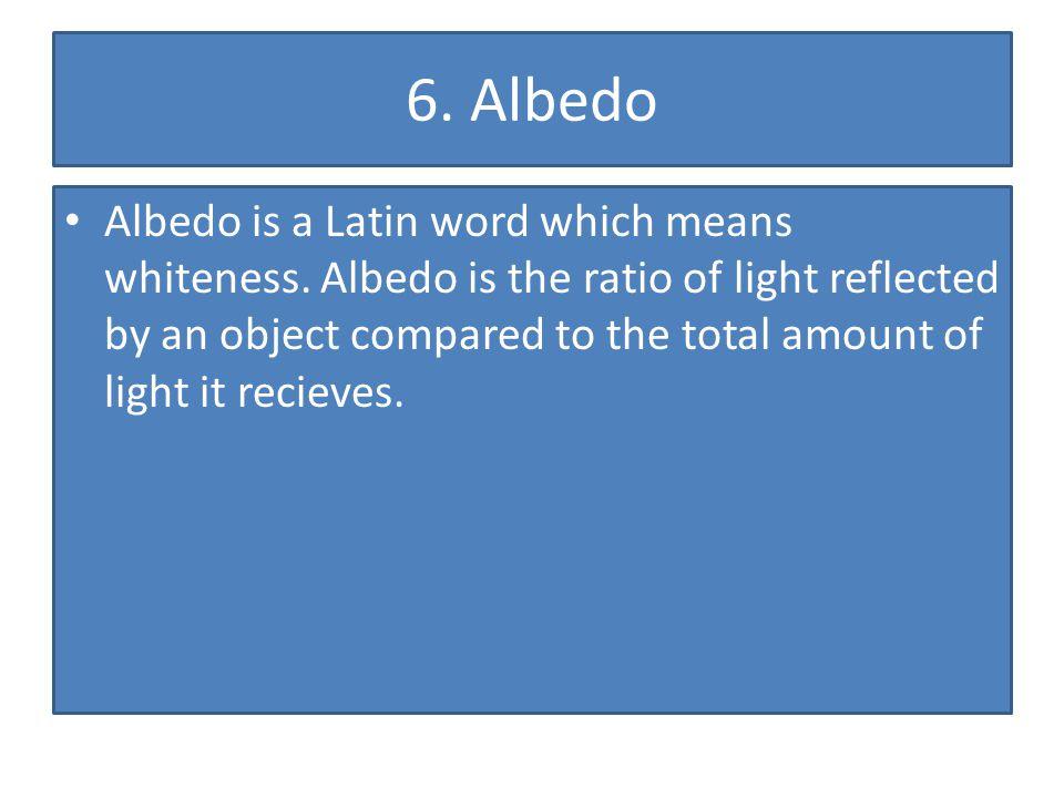 6. Albedo