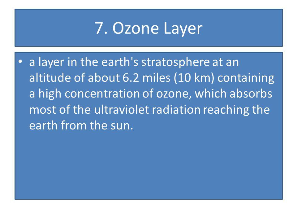 7. Ozone Layer