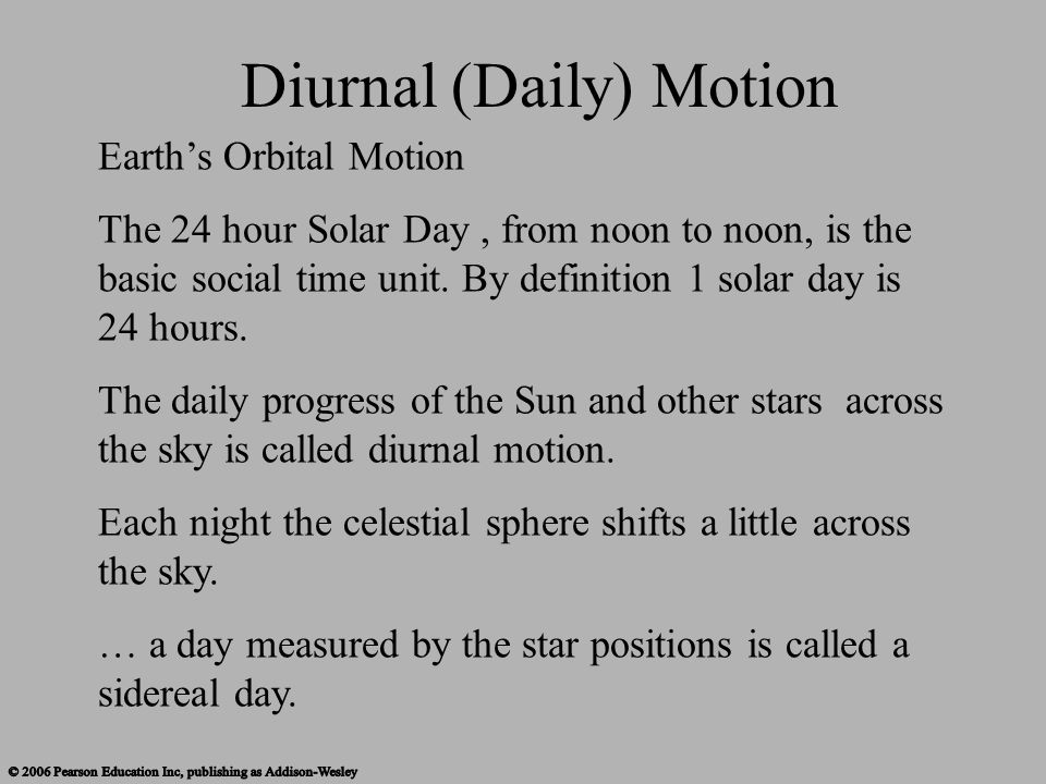 Diurnal (Daily) Motion