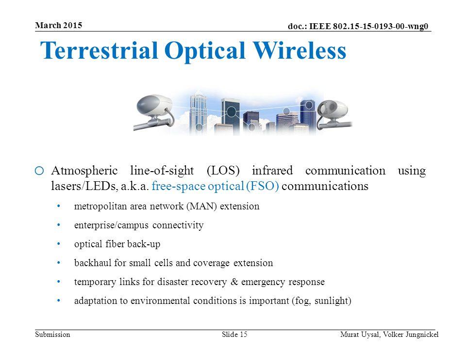 Terrestrial Optical Wireless