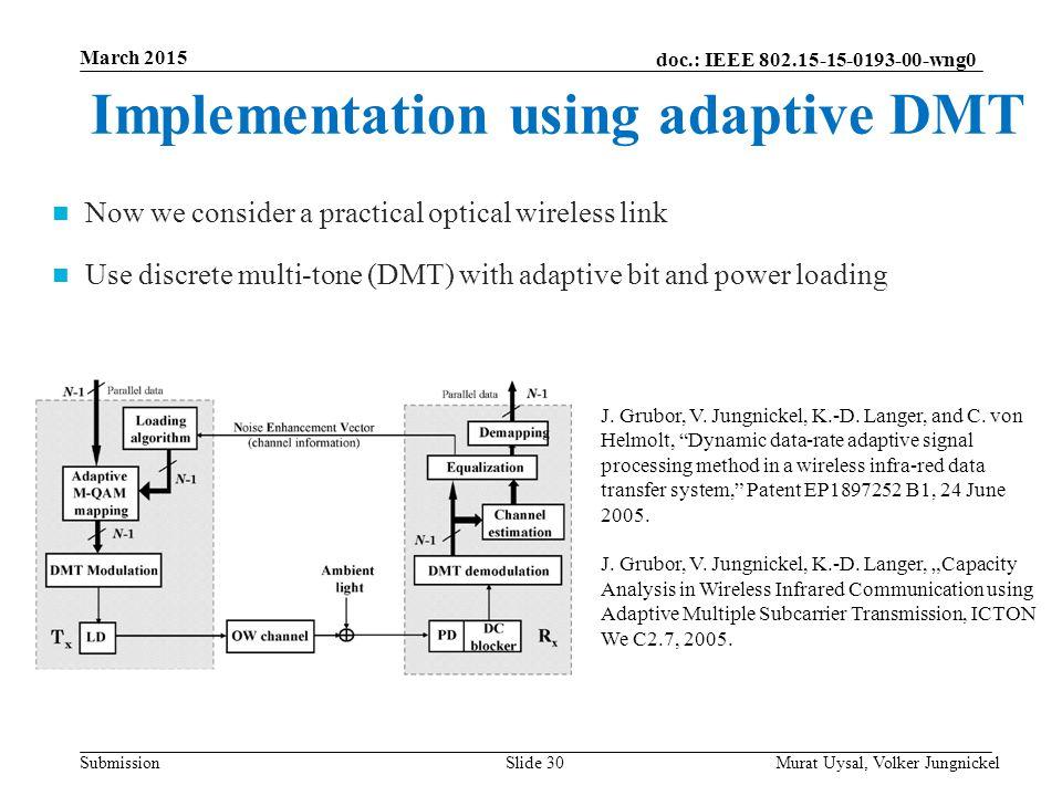 Implementation using adaptive DMT