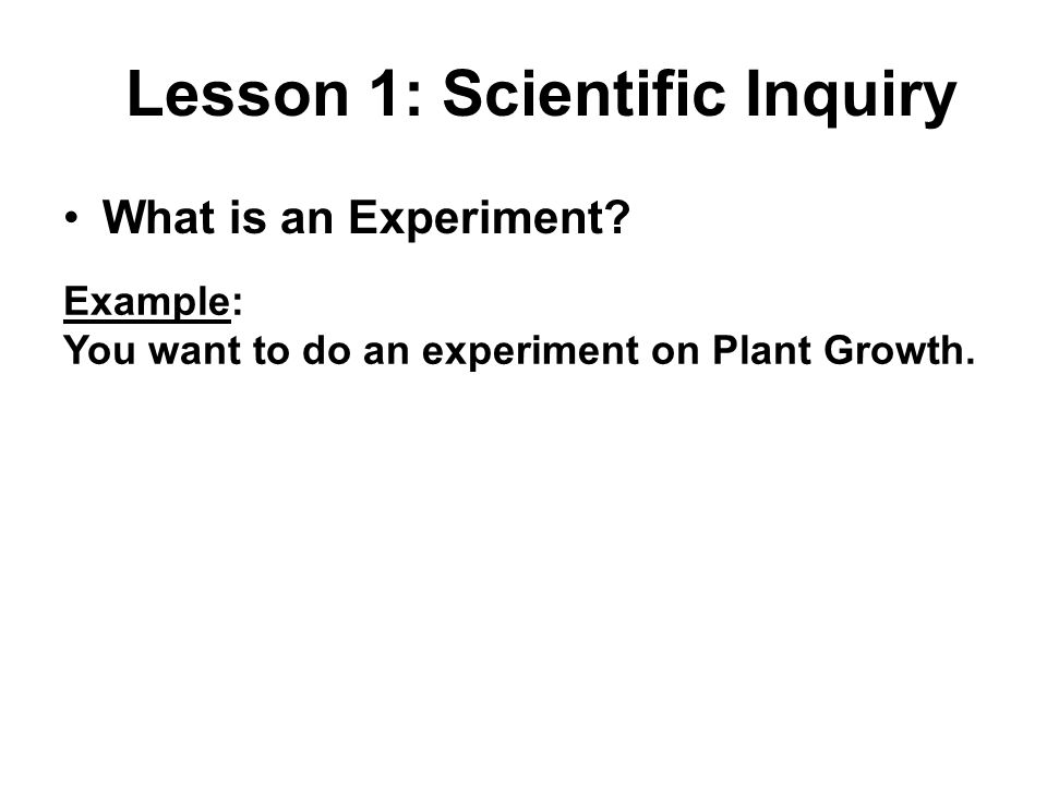 Lesson 1: Scientific Inquiry