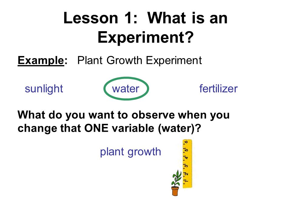 Lesson 1: What is an Experiment
