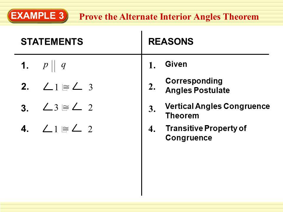 Prove the Alternate Interior Angles Theorem