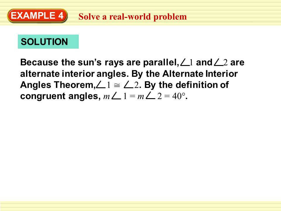 EXAMPLE 4 Solve a real-world problem. SOLUTION.