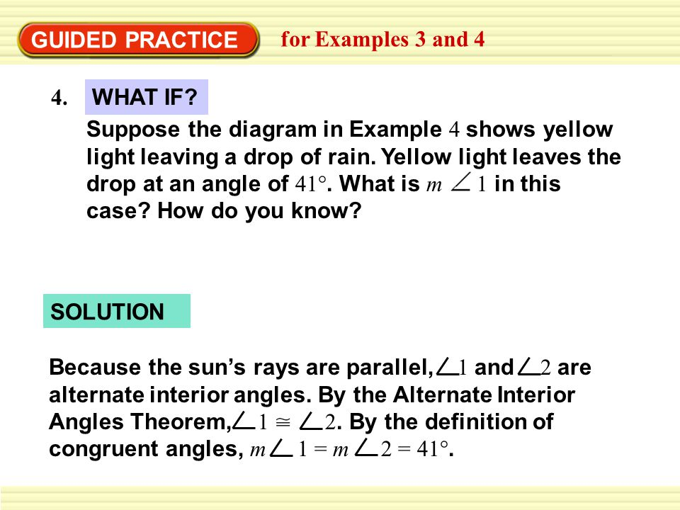 GUIDED PRACTICE for Examples 3 and 4. 4. WHAT IF