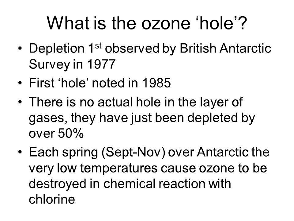 What is the ozone 'hole'