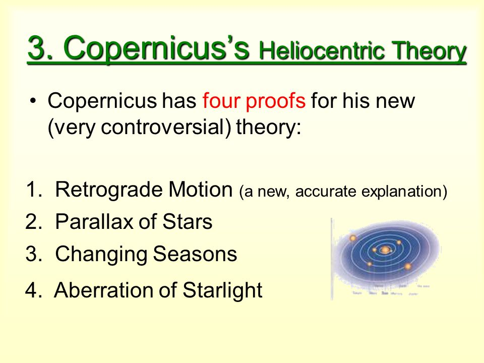 3. Copernicus's Heliocentric Theory