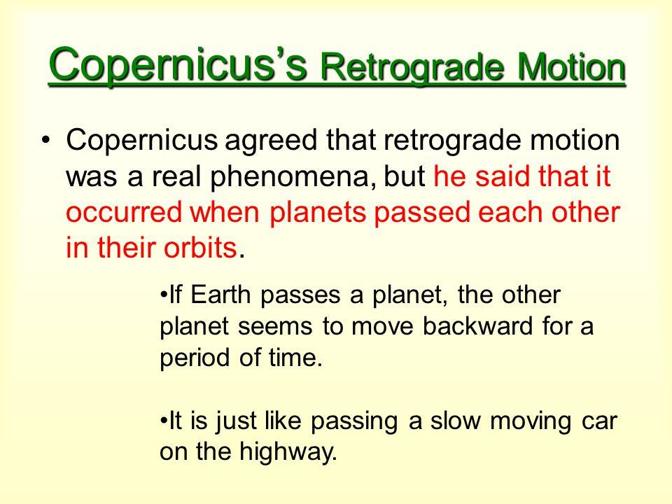Copernicus's Retrograde Motion