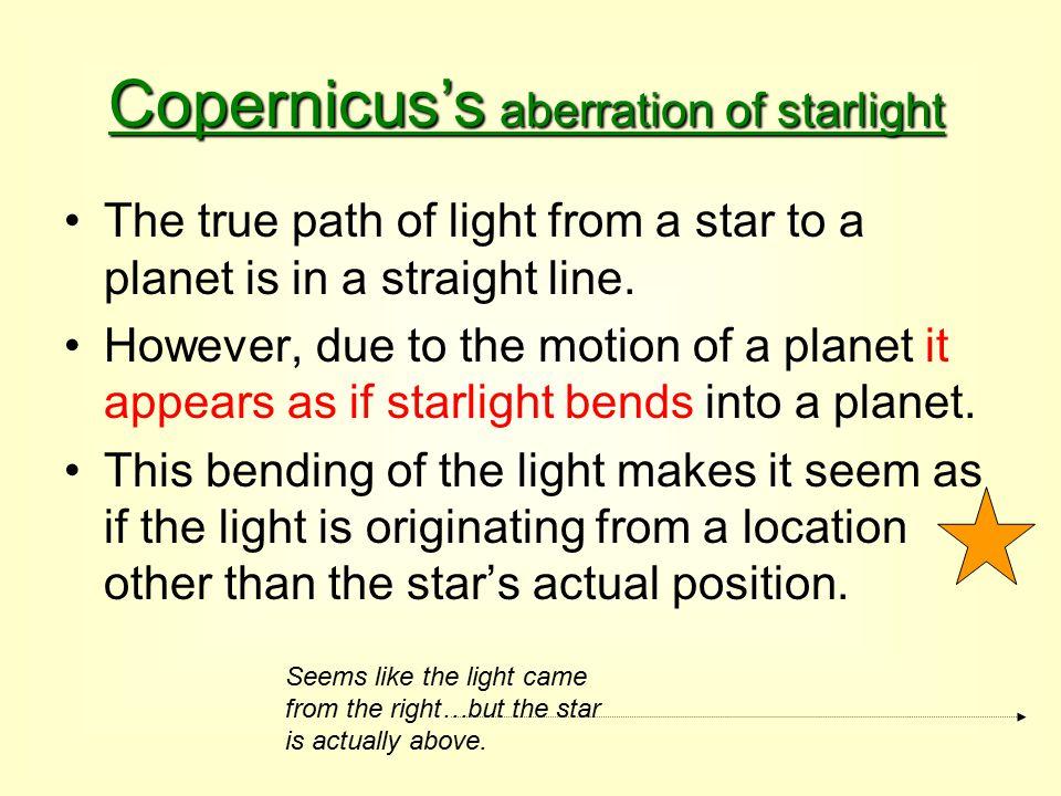 Copernicus's aberration of starlight