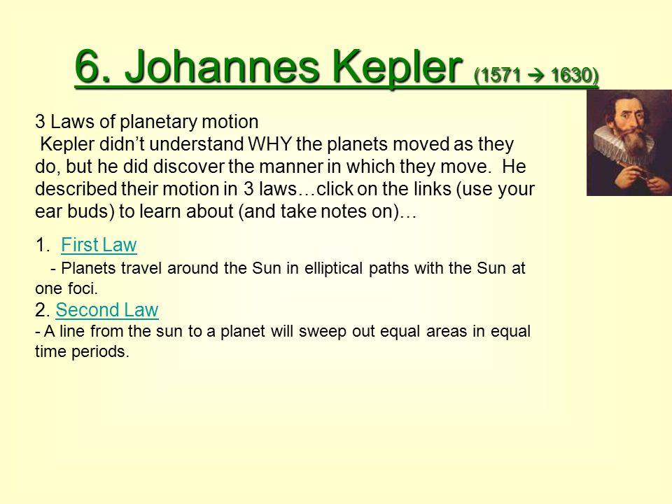 6. Johannes Kepler (1571  1630)