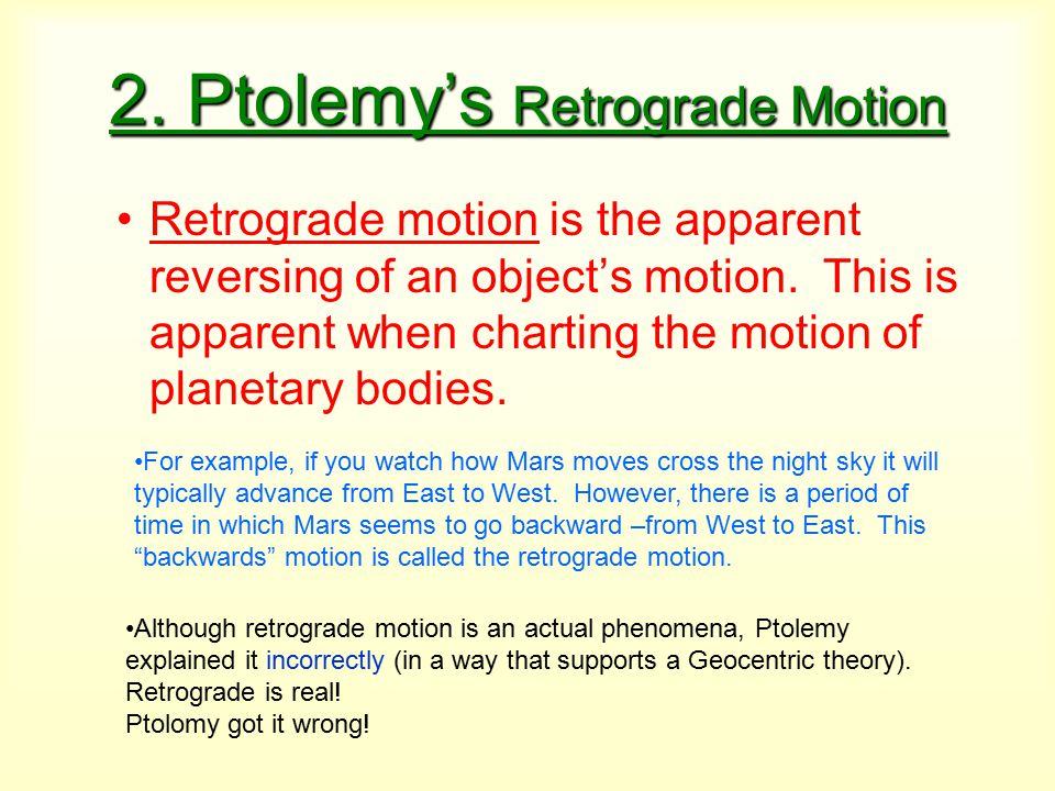 2. Ptolemy's Retrograde Motion