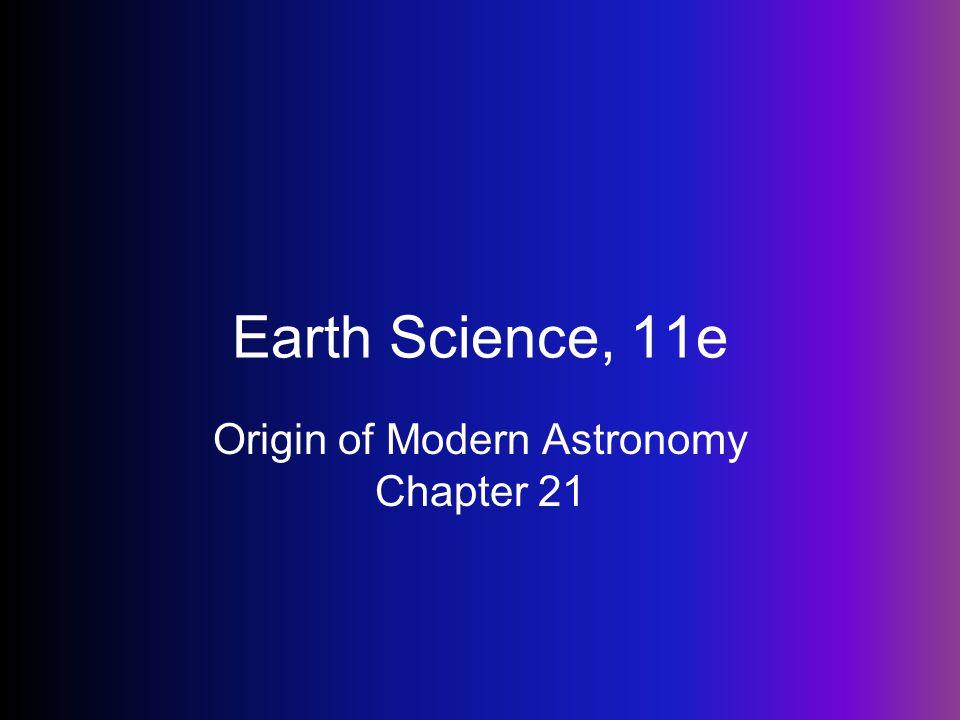 Origin of Modern Astronomy Chapter 21