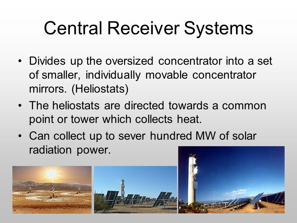 Central Receiver Systems