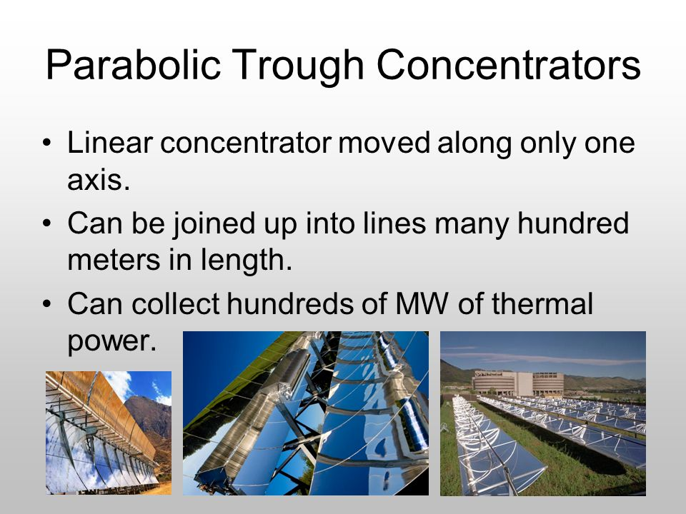 Parabolic Trough Concentrators