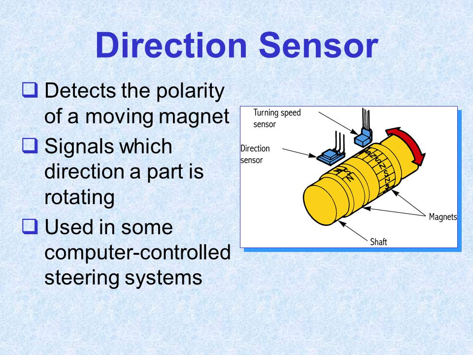 Direction Sensor Detects the polarity of a moving magnet