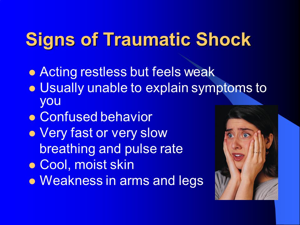 Signs of Traumatic Shock