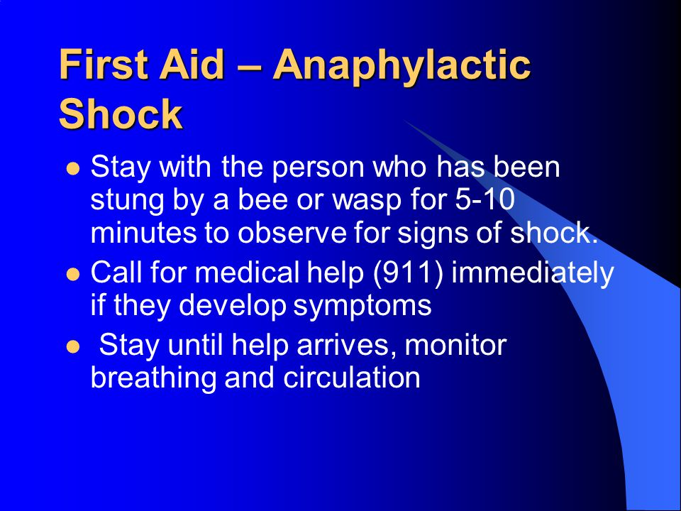 First Aid – Anaphylactic Shock