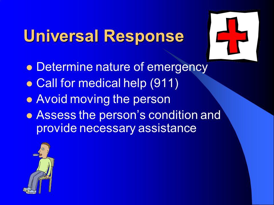 Universal Response Determine nature of emergency