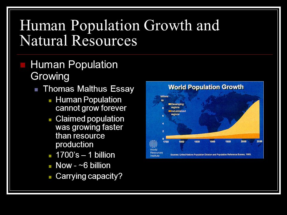 population growth and the environment essay Overpopulation essay by lauren along with rapid population growth come dangerous environmental problems population growth has contributed to every threat to our.