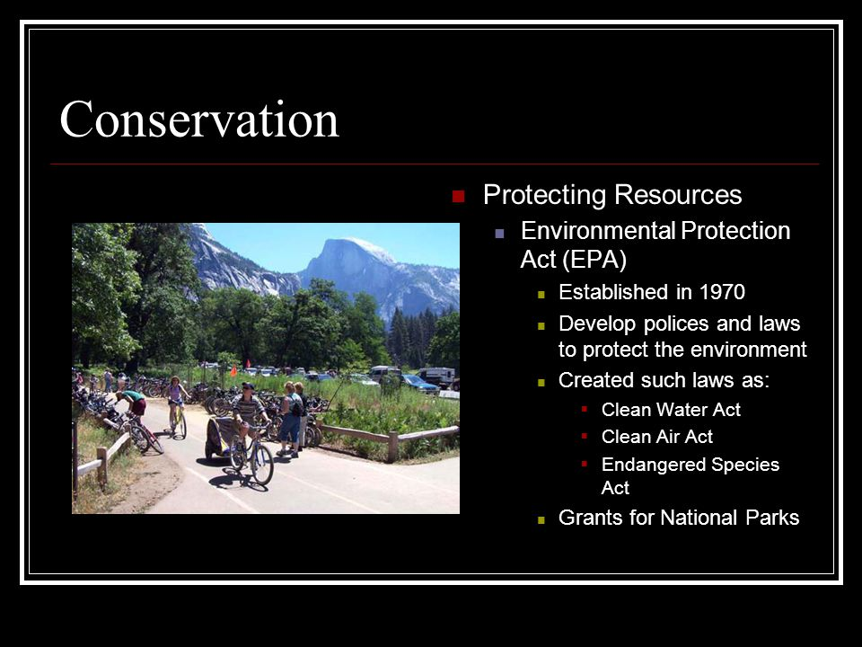 Conservation Protecting Resources Environmental Protection Act (EPA)