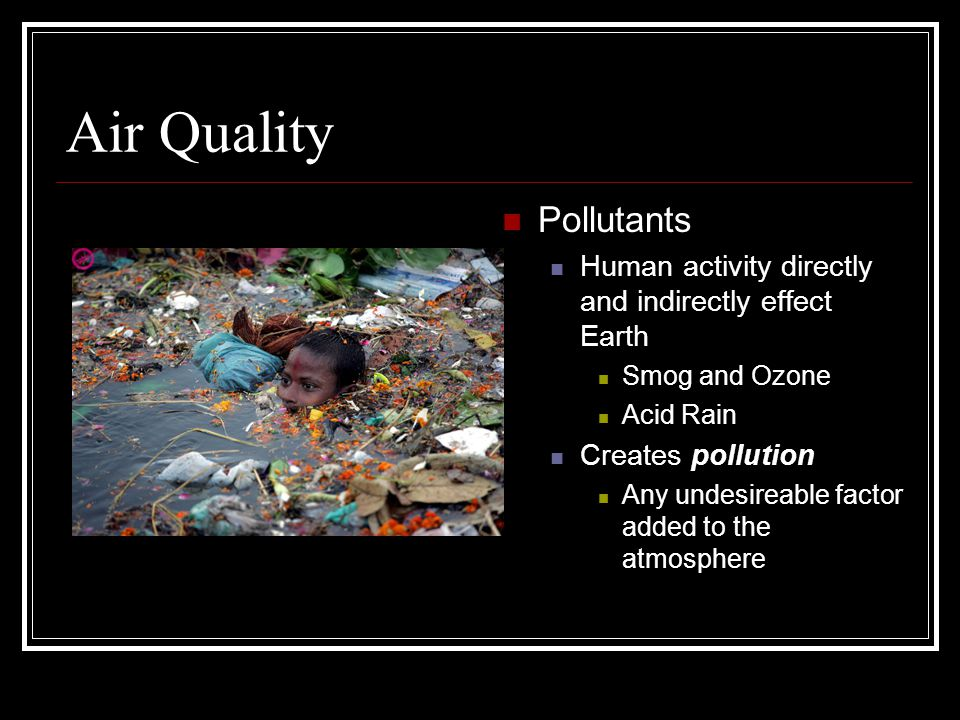 Air Quality Pollutants