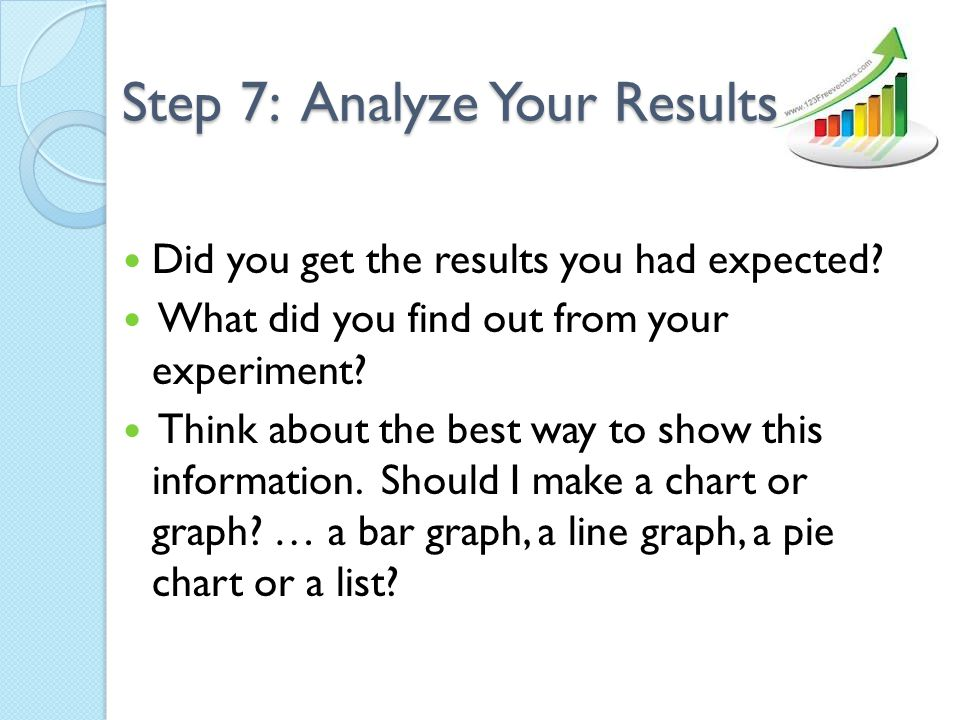 Step 7: Analyze Your Results