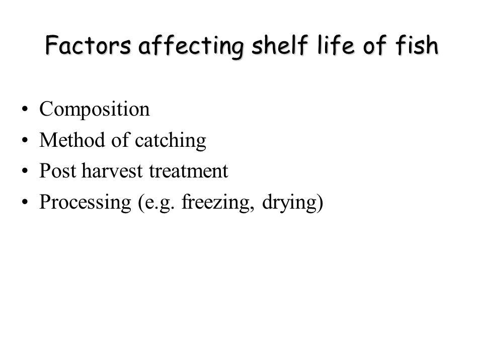 Factors affecting shelf life of fish