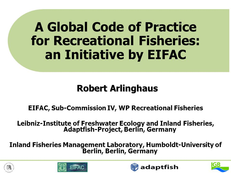 EIFAC, Sub-Commission IV, WP Recreational Fisheries