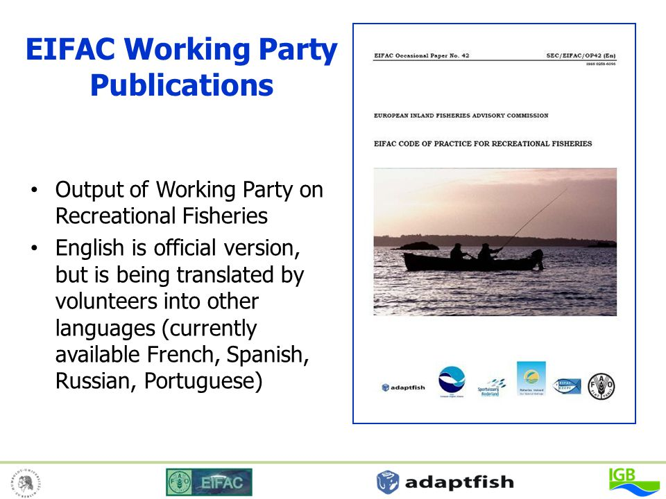 EIFAC Working Party Publications