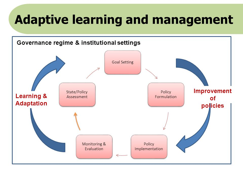 Adaptive learning and management