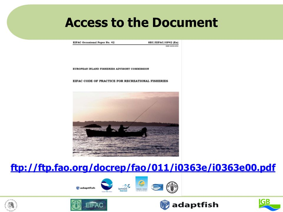 Access to the Document ftp://ftp.fao.org/docrep/fao/011/i0363e/i0363e00.pdf 40