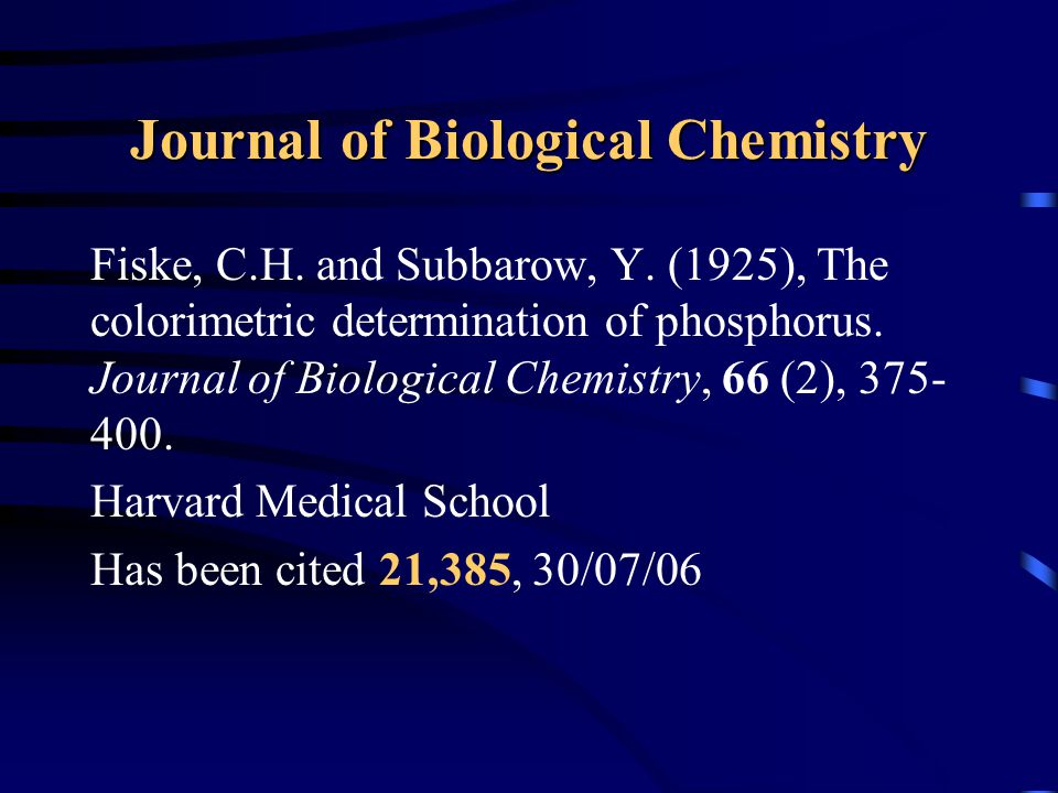Journal of Biological Chemistry