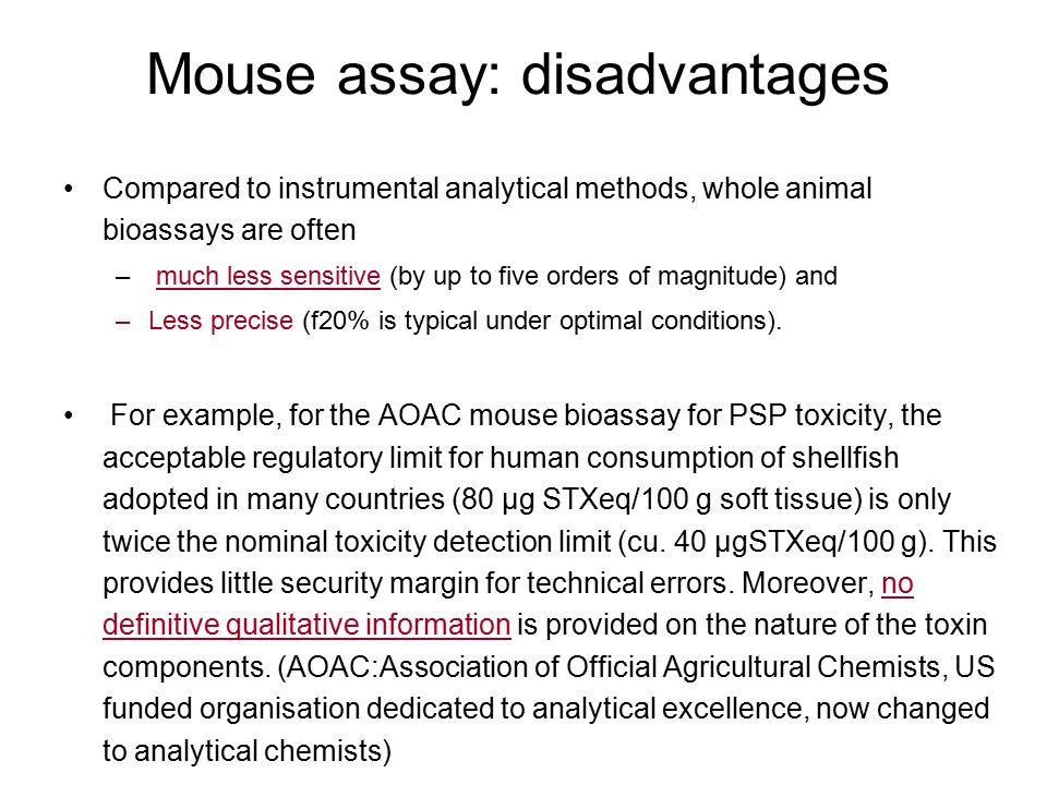 Mouse assay: disadvantages
