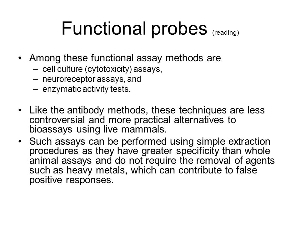 Functional probes (reading)