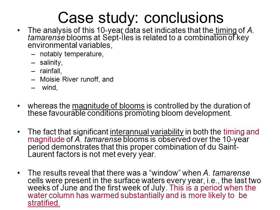 Case study: conclusions