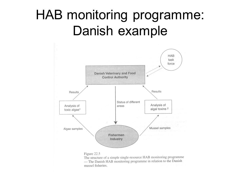 HAB monitoring programme: Danish example