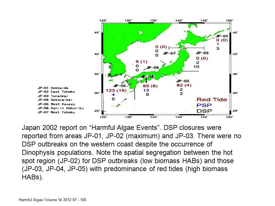 Japan 2002 report on Harmful Algae Events
