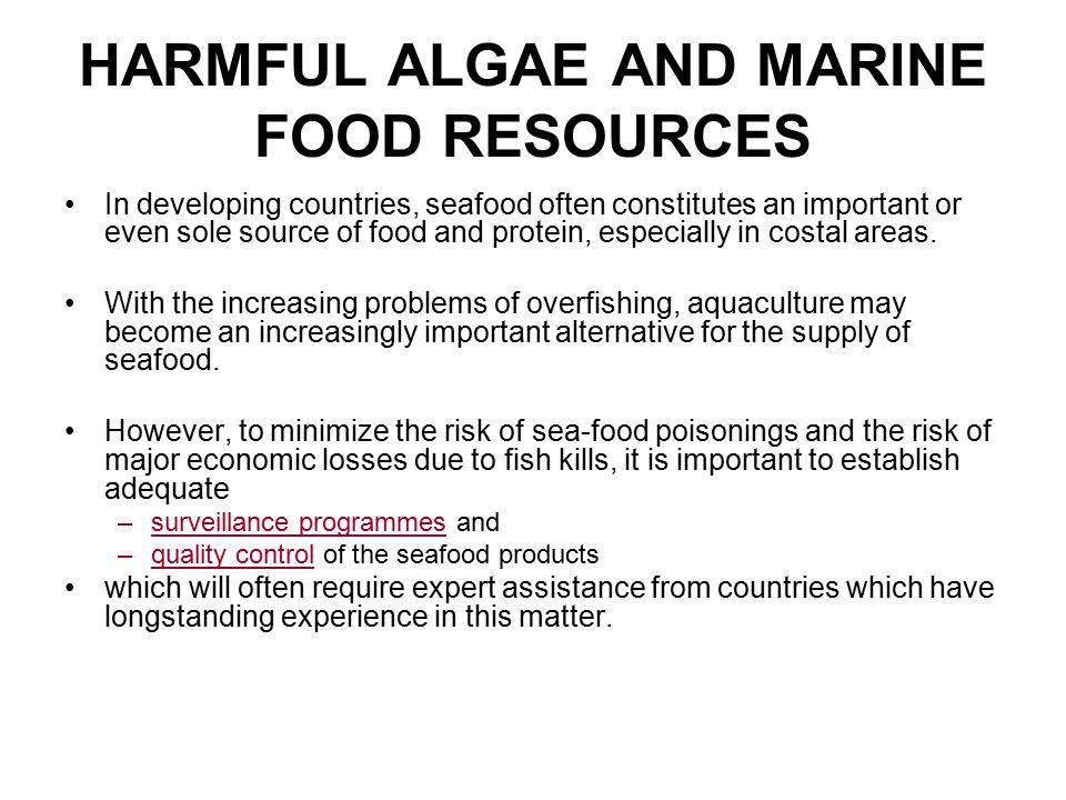 HARMFUL ALGAE AND MARINE FOOD RESOURCES