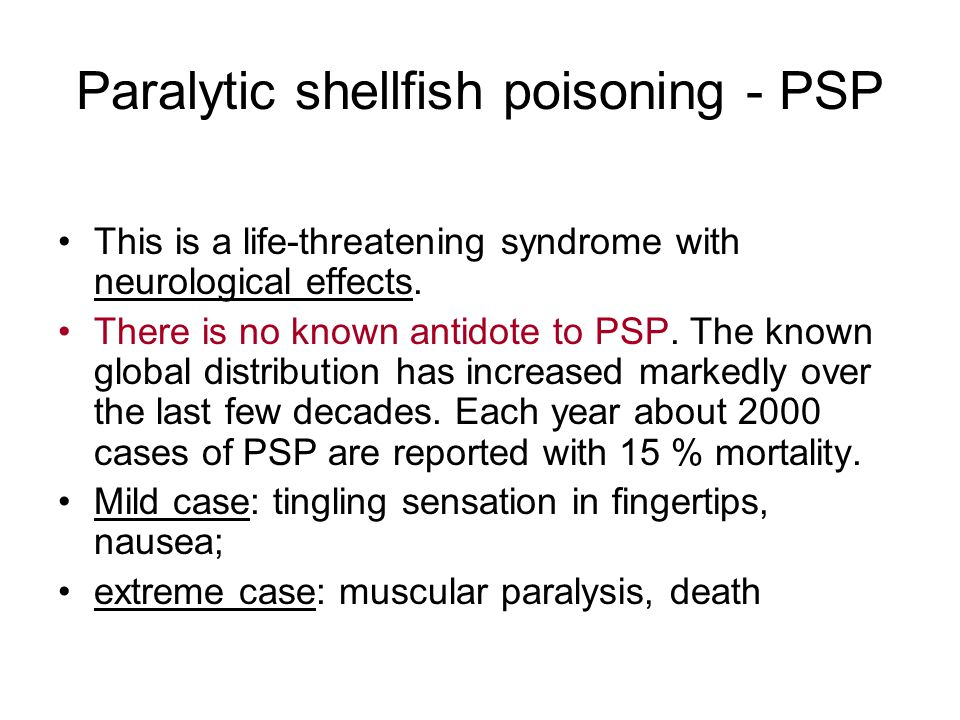 Paralytic shellfish poisoning - PSP