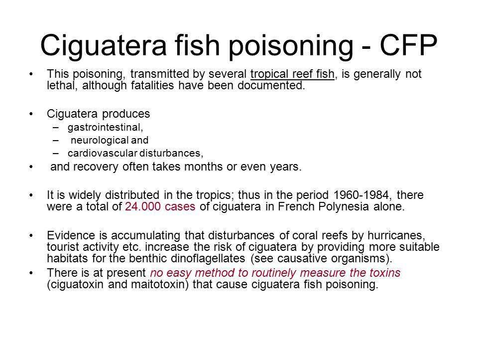 Ciguatera fish poisoning - CFP