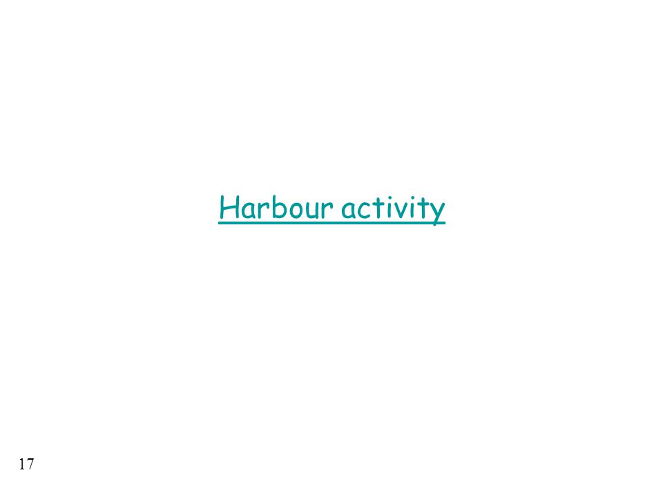Harbour activity