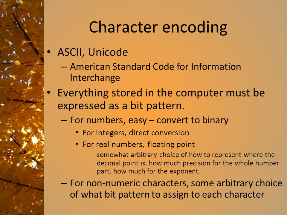 Character encoding ASCII, Unicode