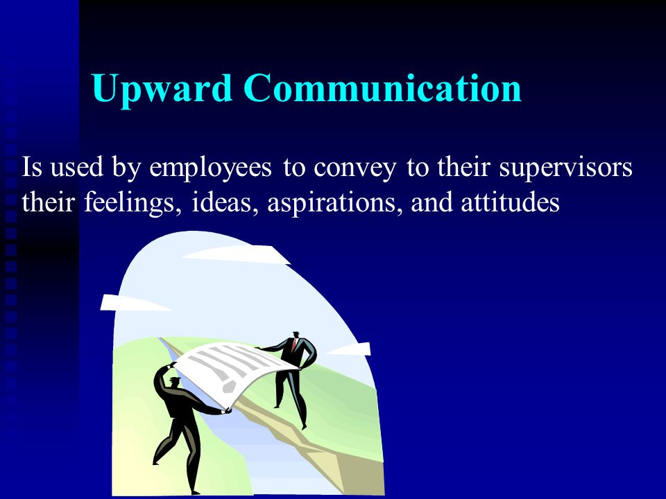Upward Communication Is used by employees to convey to their supervisors.
