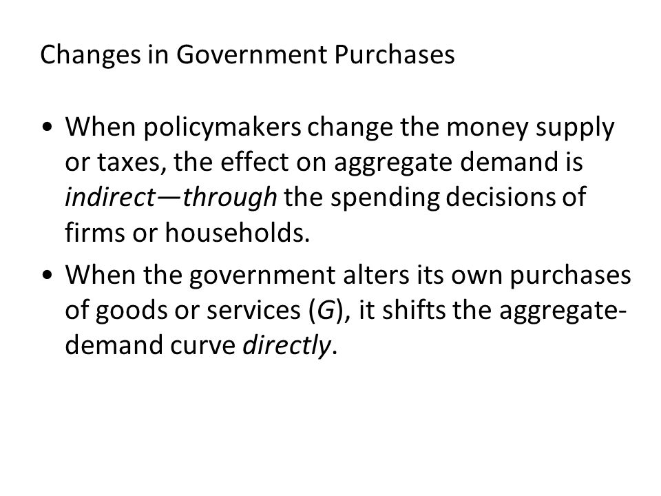 Changes in Government Purchases