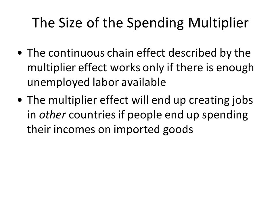 The Size of the Spending Multiplier