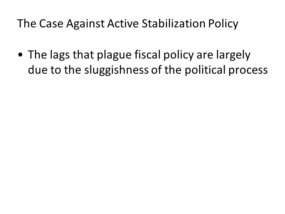 The Case Against Active Stabilization Policy