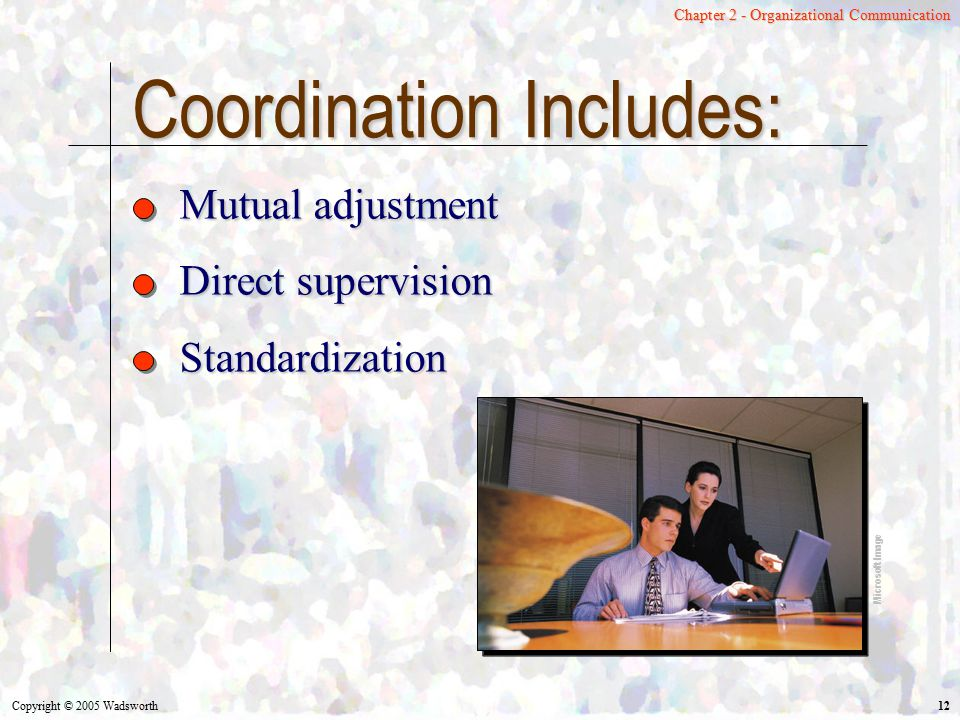 Coordination Includes: