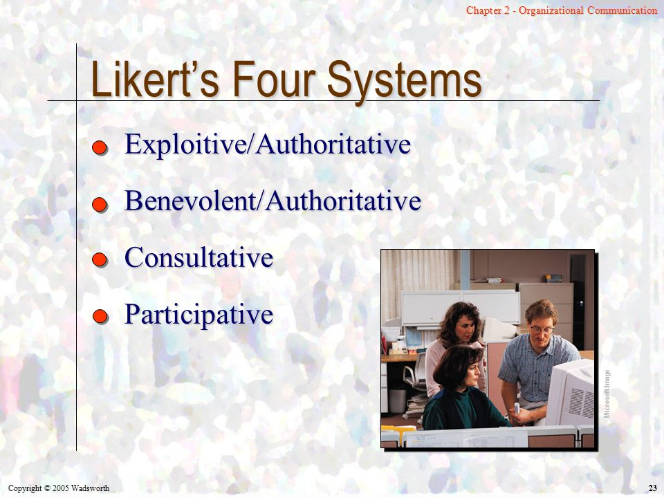 Likert's Four Systems Exploitive/Authoritative